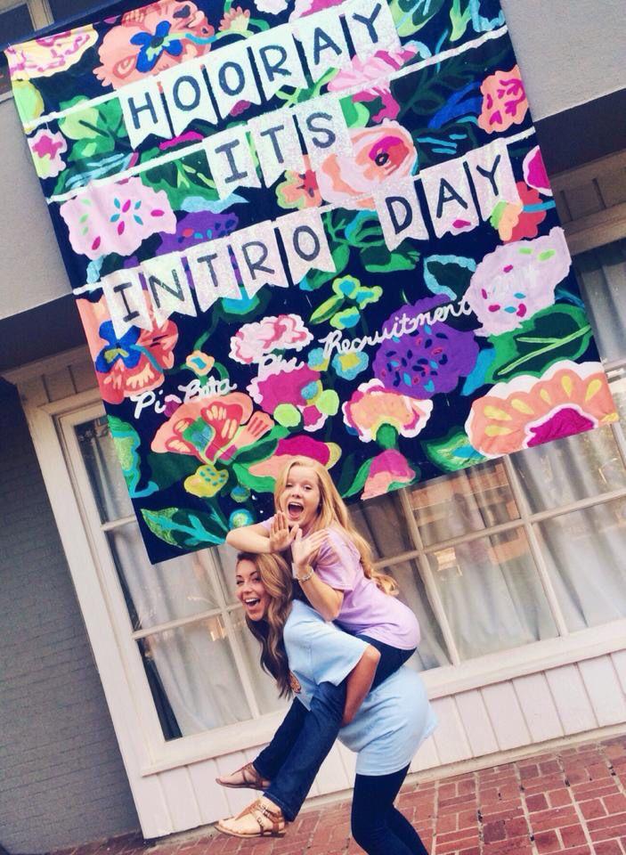 Arkansas Alpha Pi Beta Phi sorority recruitment banner