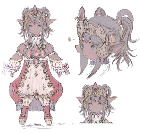 FFXIV Queen Nanamo concept art that inspired Itsuka's Final Fantasy engagement ring