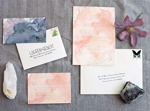 See all of our favorite wedding invitations and stationery suits from 2016! Botanical designs, classic calligraphy, letterpress, and modern designs!