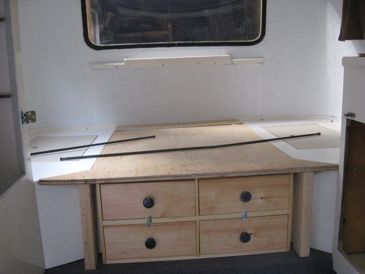 Smart under bed drawers/storage in a boler.