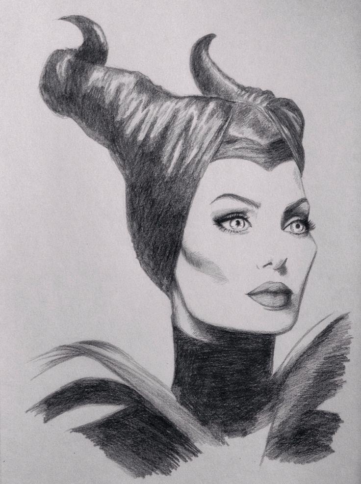 Disney Maleficent sketch Angelina Jolie by Chloe Murphy  #drawing #disney