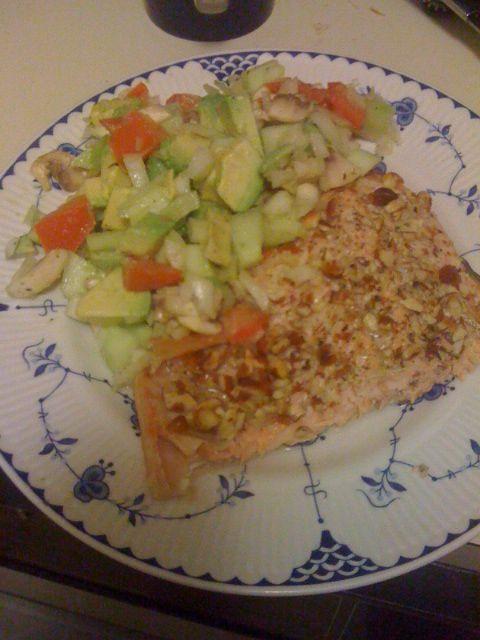 Almond Crusted Salmon - Paleo can be fast food :-) Made for dinner tonight with mixed but generally good reviews