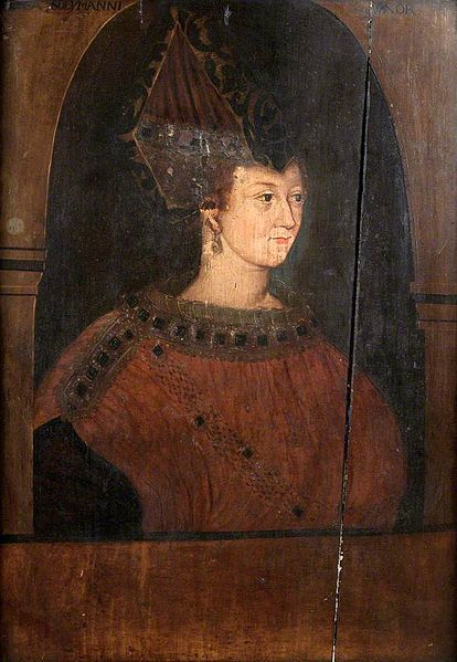File:Rossa, Wife of Suleiman the Magnificent.jpgHürrem Sultan'ın tahta üzerine işlenmiş bir yağlı boya resmi, 16. yüzyıl
