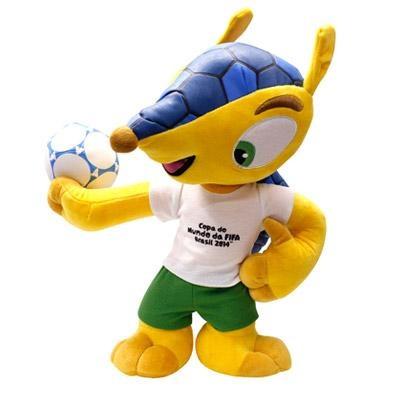 Fuleco de Pelúcia – Mascote Oficial Copa do Mundo 2014 - http://batecabeca.com.br/pelucia-fuleco-mascote-oficial-copa-do-mundo-2014-ri-happy.html