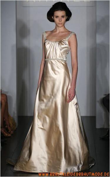 2013 Bestverkaufte Brautmode frankfurt aus Satin A-Linie
