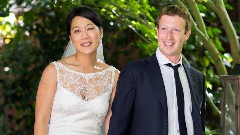 "Mark Zuckerberg Marries Priscilla Chan. // 'Zuckerberg told ABC News this month that dinner table conversations with Chan helped him formulate an organ-donation initiative on Facebook. ""She's going to be a pediatrician, so our dinner conversations are often about Facebook and the kids that she's meeting,"" he said.' [CNN.com]"