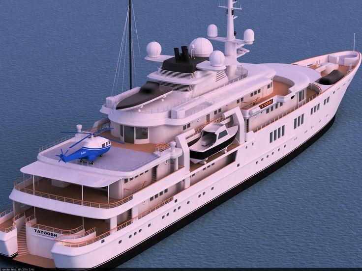 Superyacht Tatoosh Yachts 3D Max - 3D Model