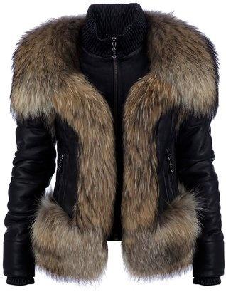 ShopStyle: Philipp Plein lamb leather fur jacket
