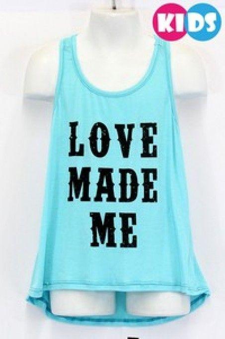 """Love Made Me"" Printed Tank"