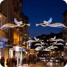 professionelle weihnachtsbeleuchtung straßenüberspannung für städte