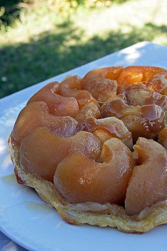 Auld alliance apple tart (tarte aux pommes ressemblant à la Tarte Tatin, et preuve à l'époque de l'amitié franco-écossaise)