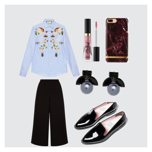 """""""👕"""" by stacyk01 on Polyvore featuring мода, Gucci, Everlane, Witchery и Too Faced Cosmetics"""