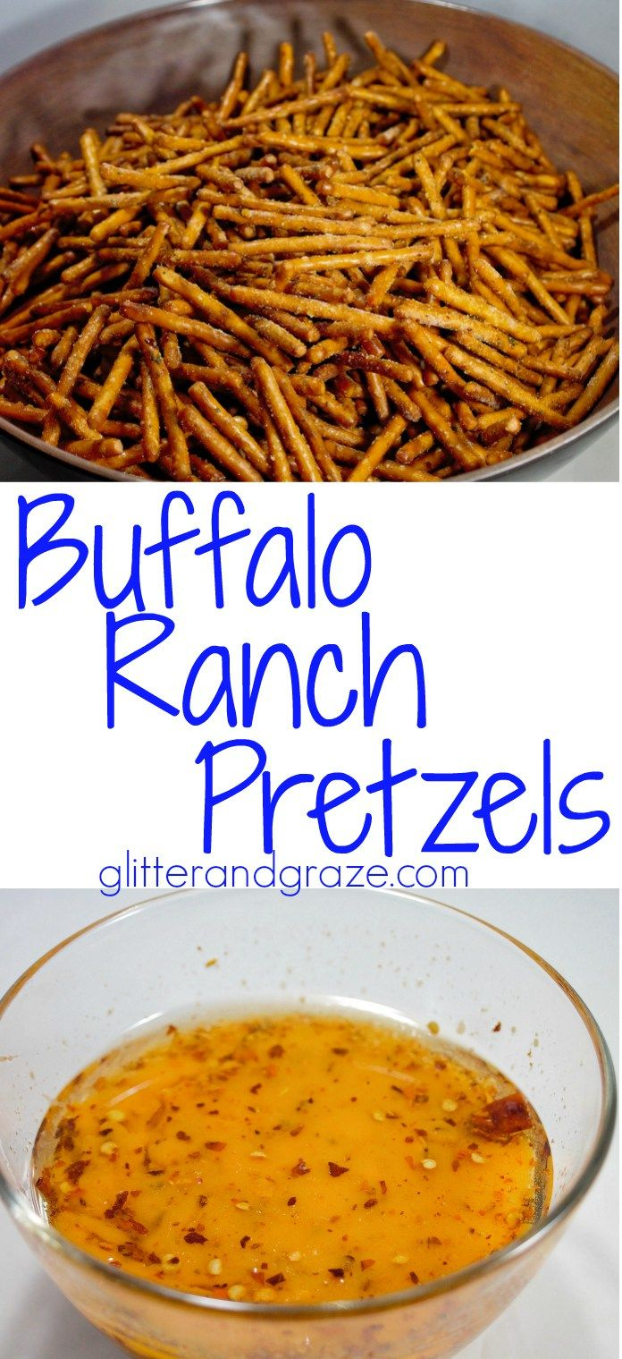 These buffalo ranch pretzels are so addicting you just can't get enough. These are perfect for your next get together or afternoon snack.