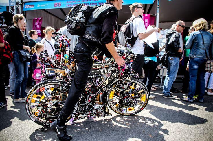Rowerzysta na 18. Pikniku Naukowym / Cyclist on the 18th Science Picnic