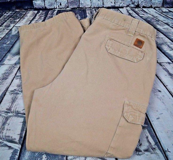 Carhartt Men's Cargo Pant Cotton Canvas Work Hiking Camping Pants 40 x 29