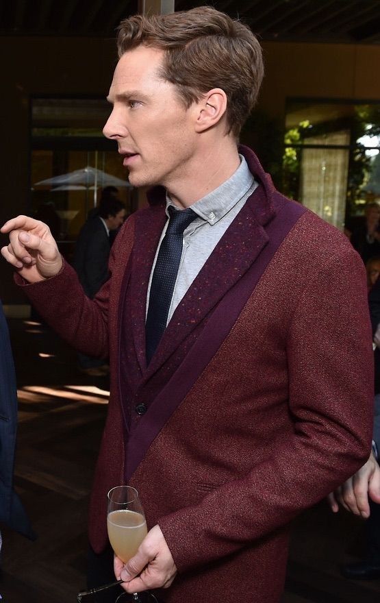 I normally prefer face on pictures of Benedict Cumberbatch but, this profile picture is just perfect. I edited out the Director of TIG sorry! Benedict is so lovely in this shot.