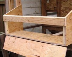 How to build external nest boxes for your chicken coop Whether you're building The Garden Coop, The Garden Ark, or pretty much any other chicken coop, the instructions that follow will show you in detail how to add external nesting boxes to your coop.