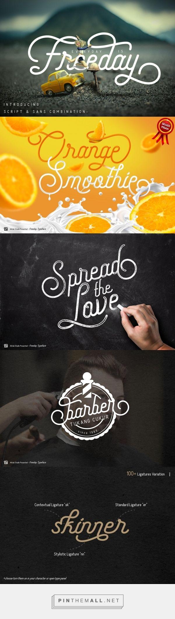 Freeday Script & Sans by Aktab Studio