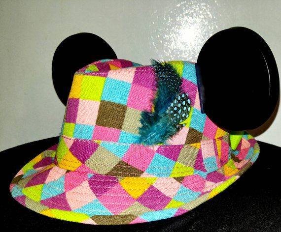 Check out this item in my Etsy shop https://www.etsy.com/listing/245879704/girls-mickey-hat-disneyland-hat
