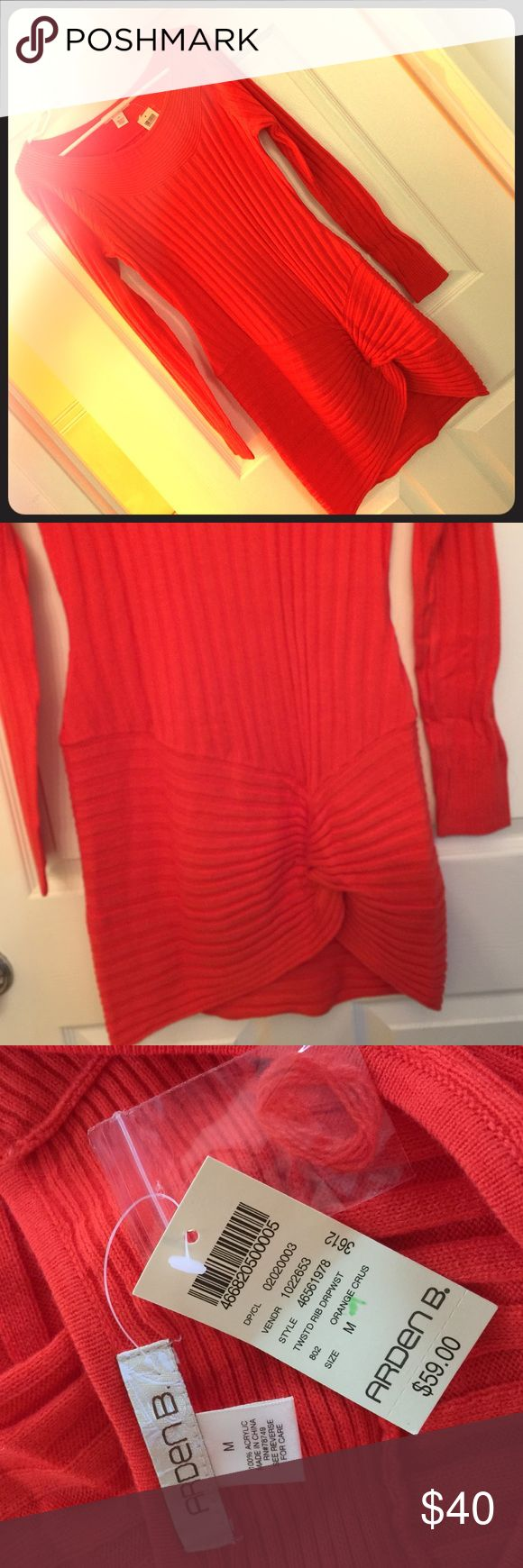 Orange dress Arden B NWT Arden b. Orange dress, medium, cute long sleeve dress for fall 🍂🍁🍃 above the knee length, measured when dress lay flat on surface,  35 inches from shoulder to end of dress. Arden B Dresses