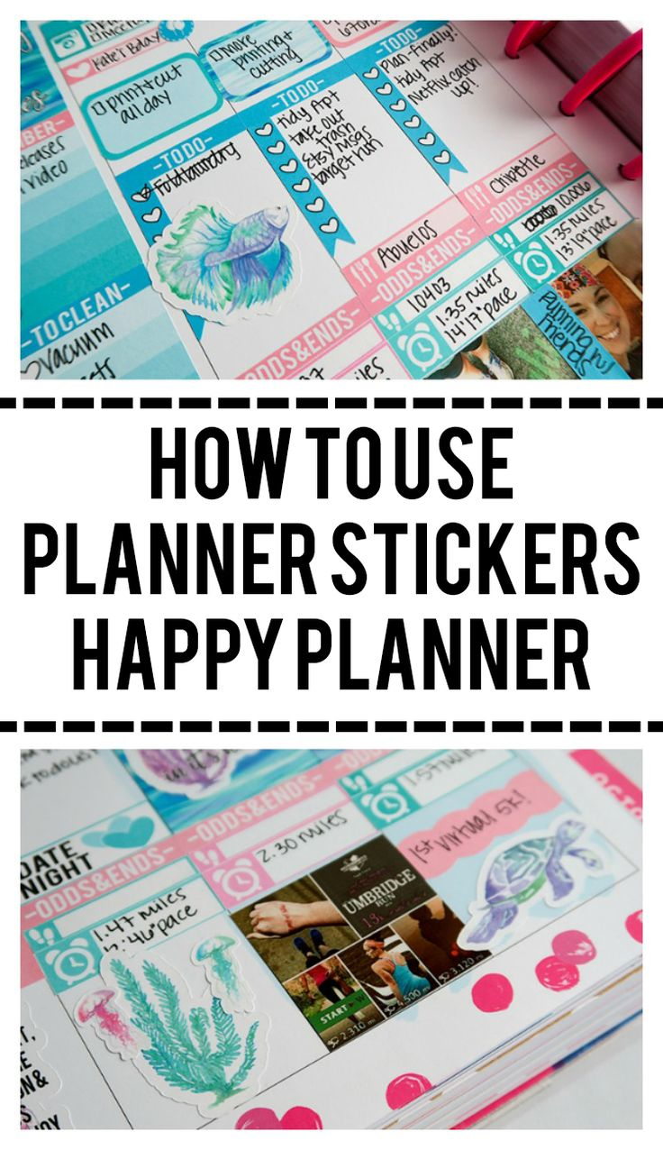 """Keep seeing a bunch of """"Erin Condren"""" sticker sets you want to use? Here's some tips for using them in your Happy Planner!"""