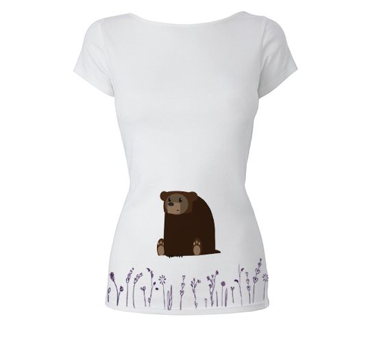 Bear in the flowers t-shirt.