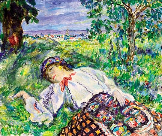 Csók István (1865-1961) Resting girl - by Virag Judit Gallery