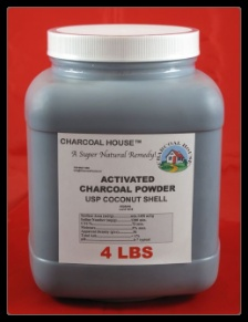 Activated Charcoal -  Medical use. It can be mixed with water and taken internally for poisoning, indigestion, and diarrhea, or applied externally in poultices, compresses and baths, for the treatment of infections, pain, and as a general detoxifier.