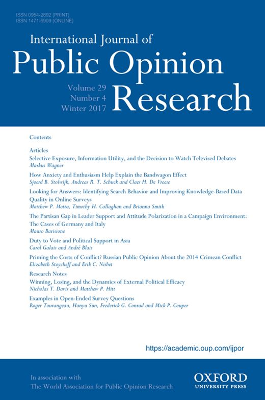 Rens Vliegenthart, Andreas R. T. Schuck, Hajo G. Boomgaarden, Claes H. De Vreese; News Coverage and Support for European Integration, 1990–2006, International Journal of Public Opinion Research, Volume 20, Issue 4, 1 December 2008, Pages 415–439, https://doi.org/10.1093/ijpor/edn044