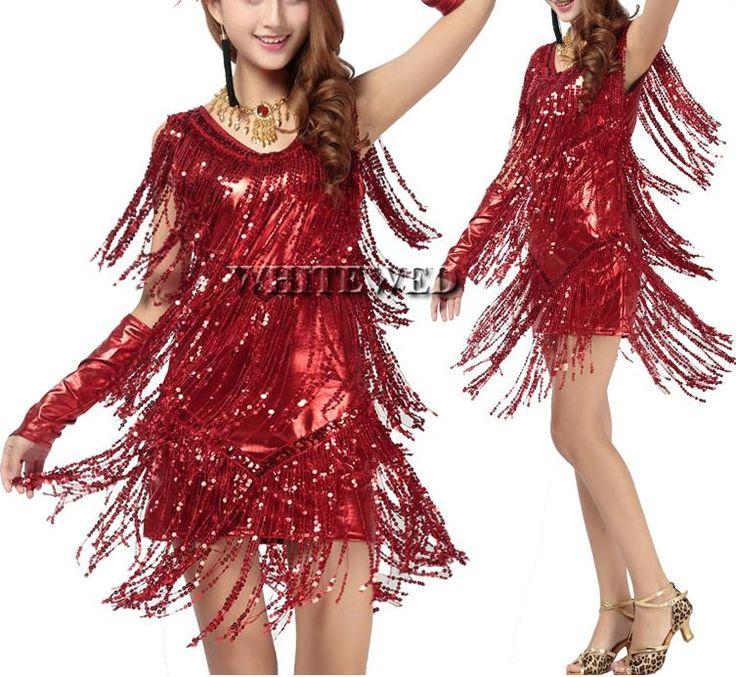9c7ab70a11e8 Women Fringe Tassel Latin Ballroom Salsa Cha Cha Samba Rumba Jive Dancewear  Competition Fancy Dress Costumes For Sale V Neck Sc 1 St Pinterest