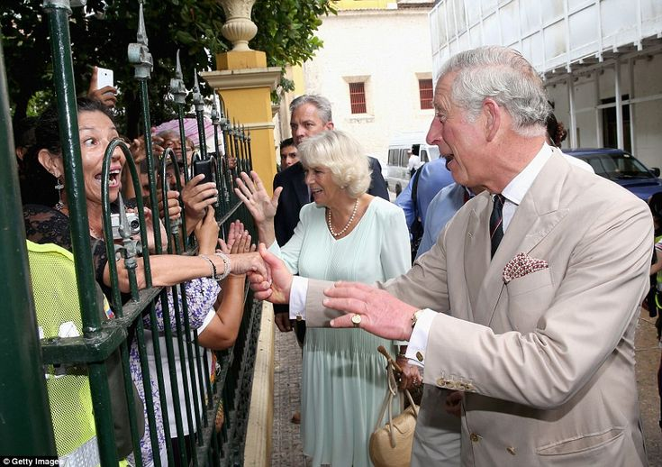 Nice to meet you: Even more excited was the crowd of locals who had waited outside the museum to see the royal couple.