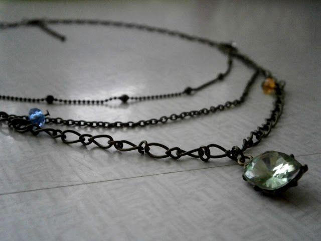 Winniearthe: Jewellery: Boho 3 - layer necklace