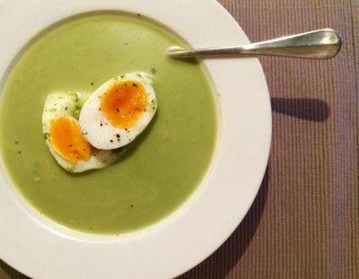 Boerenkool soep met blauwe kaas