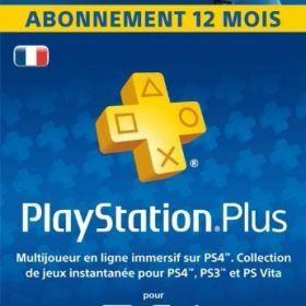 PlayStationPlus : abonnement de 12 mois [Code Jeu PSN PS4 - Compte français] de Sony