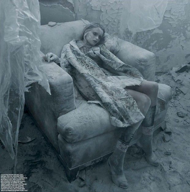 Abbey Lee for Interview Magazine by Fabien Baron