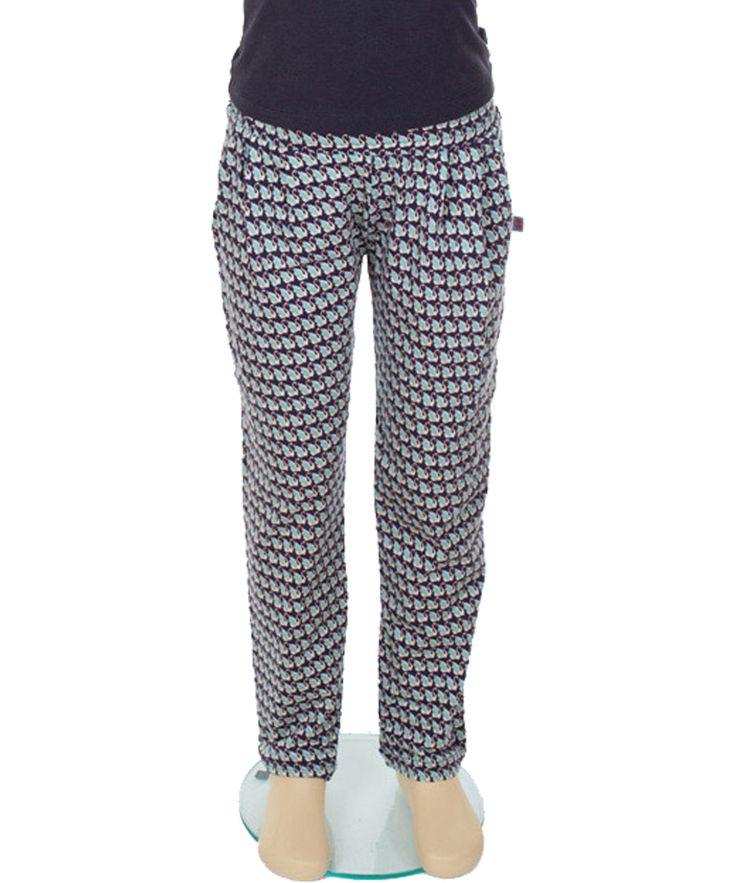 Froy & Dind crazy cool pants with swan print. froy-en-dind.en.emilea.be