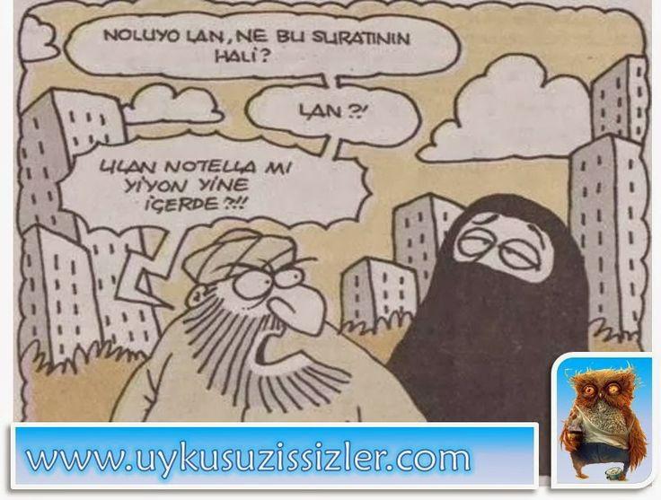 Karikatür: Notella mi yiyon yine içerde?!