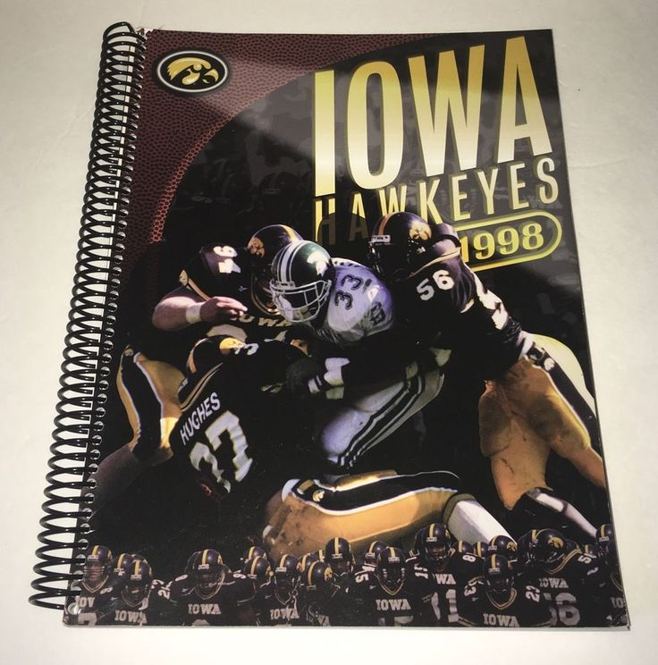 University of Iowa HAWKEYES Football Team Player Recruitment Book 1998 History #IowaHawkeyes