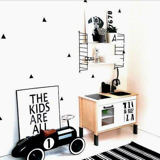 BLACK AND WHITE IKEA HACKS FOR KIDS