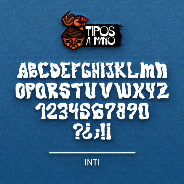 Tipografía Inti, basada en el logotipo del grupo musical Intillimani.
