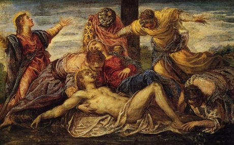 http://museolia.spezianet.it/images/opere/inv_218_big.jpg Tintoretto. Lamentation over the body of Christ. 1555-1556