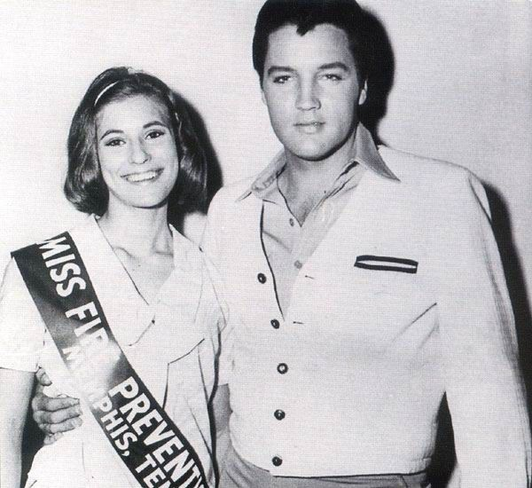 Elvis in Memphis in September 28 1965 with a Miss fire prevention.