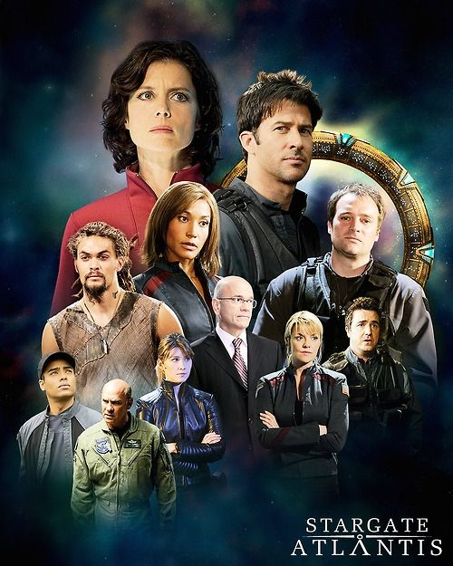 """Angsty Stargate Atlantis team is angsty! Sam look pissed, as if to say """"Oh no your did not try to put your trollop lips on MY General while I was a galaxy away!"""""""