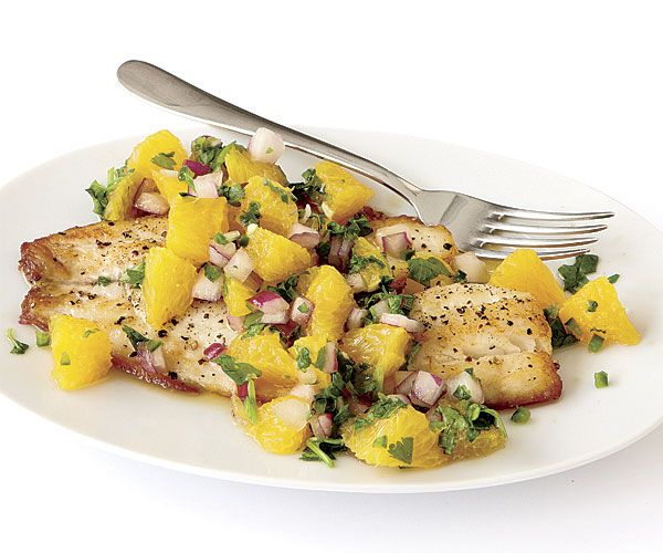Seared Tilapia with Spicy Orange Salsa - with our All Purpose ...
