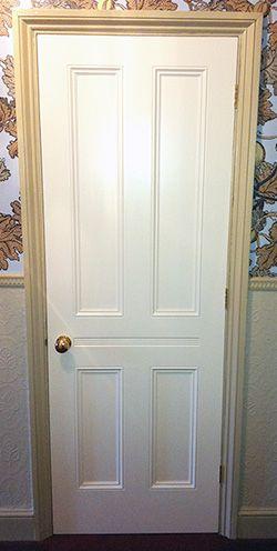 Victorian internal door with traditional 4-panel design
