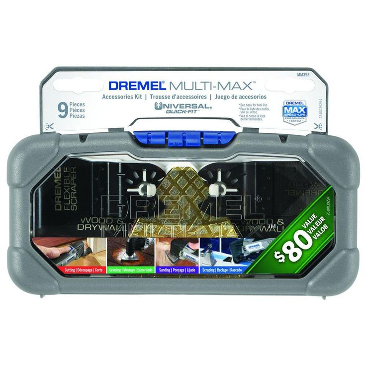 Dremel Multi-Max Cutting and Variety Oscillating Tool Accessory Kit for Wood, Metal, and Drywall (9 Attachments)