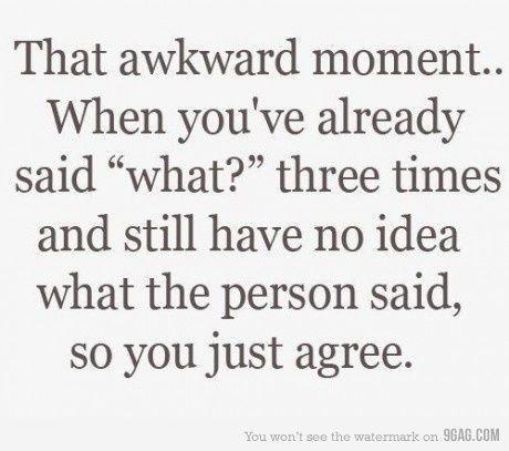 Funny awkward moment