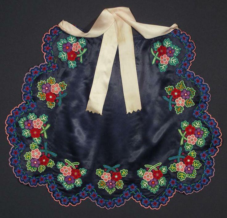 VINTAGE embroidered apron Slovak Folk Costume floral