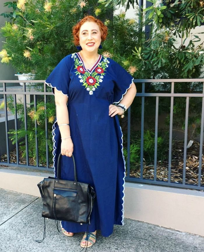 The Thrifted Redhead | thrifted vintage 70s kimono