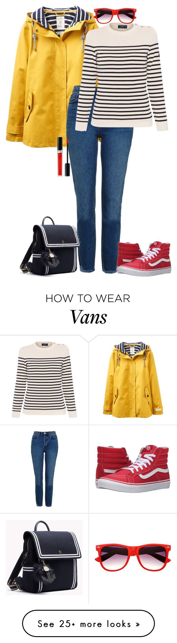 """a little boat trip in autumn"" by lila77 on Polyvore featuring Joules, Topshop, Saint James, Vans and Christian Dior"